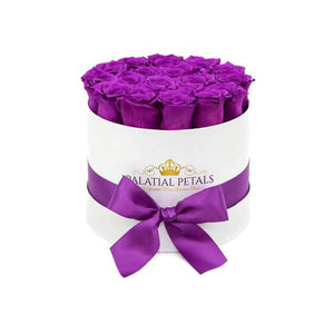 Purple Roses That Last A Year - Medium Rose Box - Palatial Petals