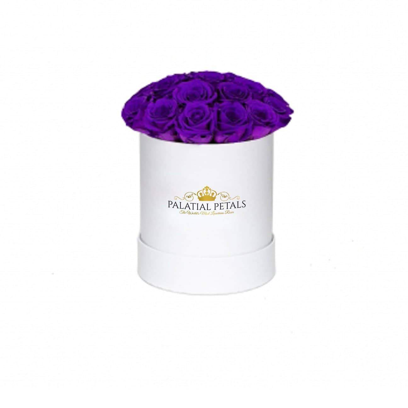 Purple Roses That Last A Year - Petite Rose Box - Palatial Petals