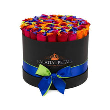 Rainbow Roses That Last A Year - Grande Rose Box - Palatial Petals