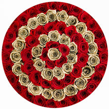 Red & 24K Gold Roses That Last A Year (Target) - Deluxe Rose Box - Palatial Petals