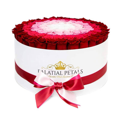 Red Arrow Roses That Last A Year (Target) - Deluxe Rose Box - Palatial Petals