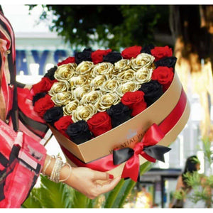 Royal Majestic Roses That Last A Year - Love Heart Rose Box - Palatial Petals