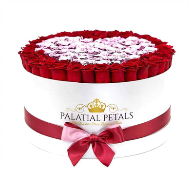 Red & Metallic Pink Roses That Last A Year - Deluxe Rose Box - Palatial Petals