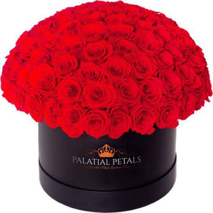 "Red Roses That Last A Year - Large ""Dome 360"" Rose Box - Palatial Petals"