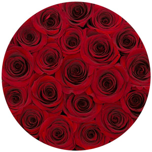 Red Wine Roses That Last A Year - Classic Rose Box - Palatial Petals
