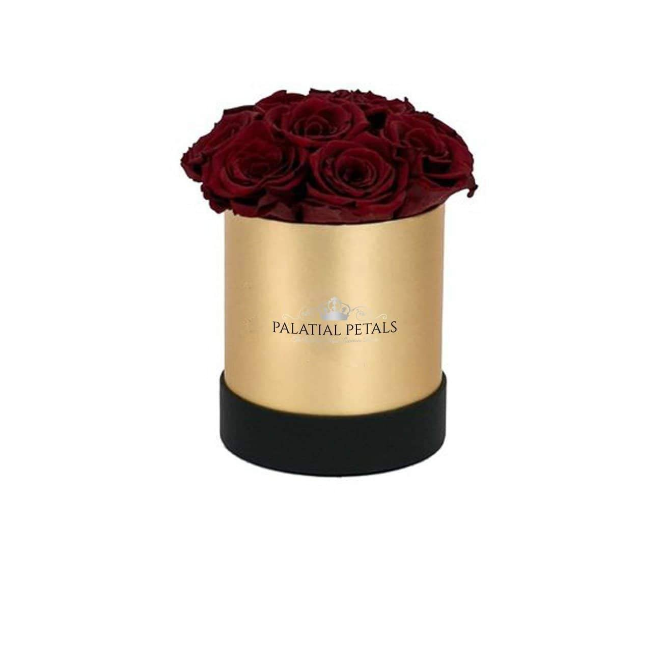 Red Wine Roses That Last A Year - Petite Rose Box - Palatial Petals