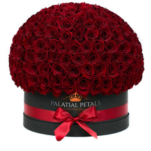 Red Roses That Last A Year (Dome) - Deluxe Rose Box