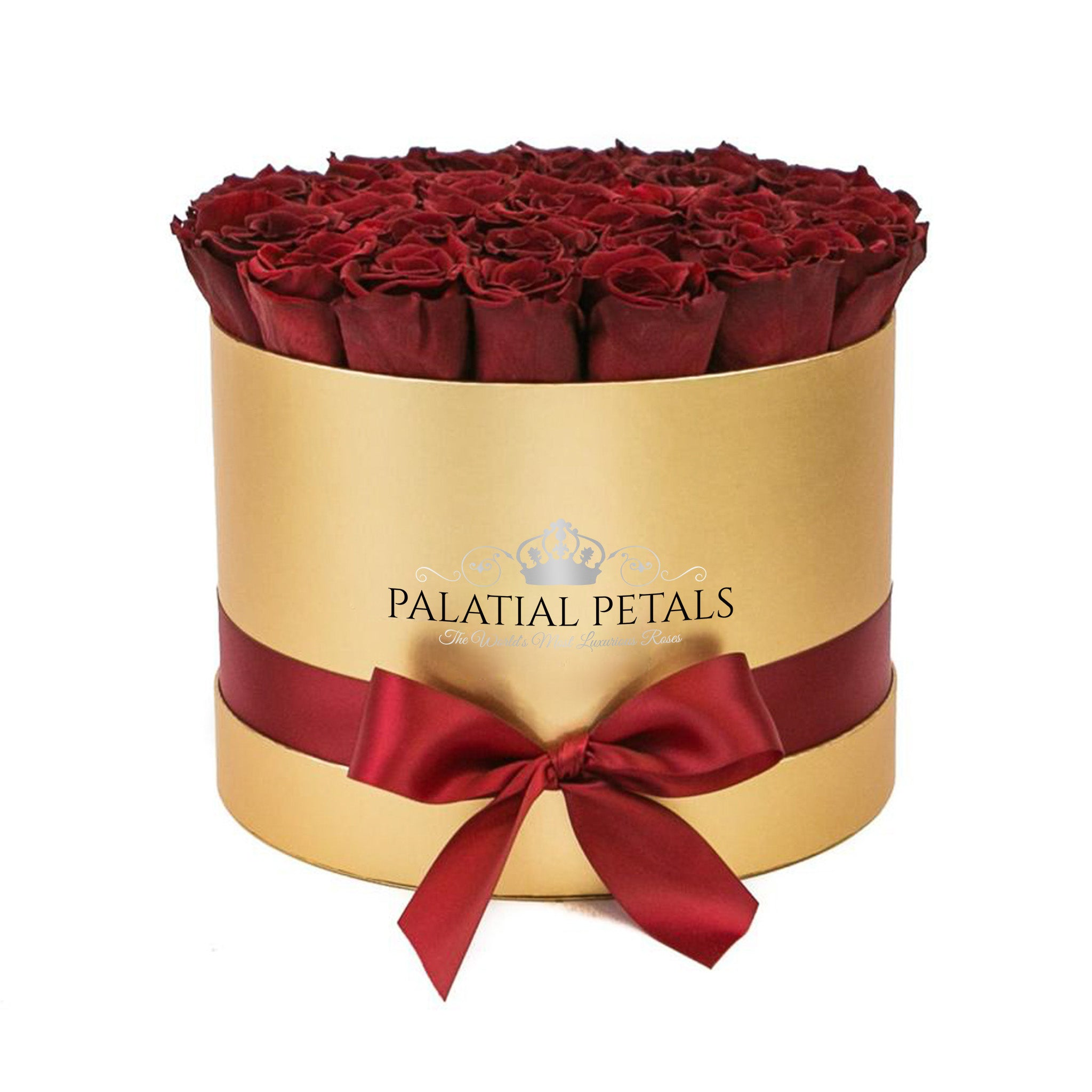 Red Wine Roses That Last A Year - Grande Rose Box