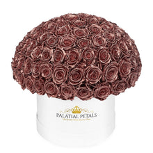 "Rose Gold Roses That Last A Year - Grande ""Crown"" Rose Box"