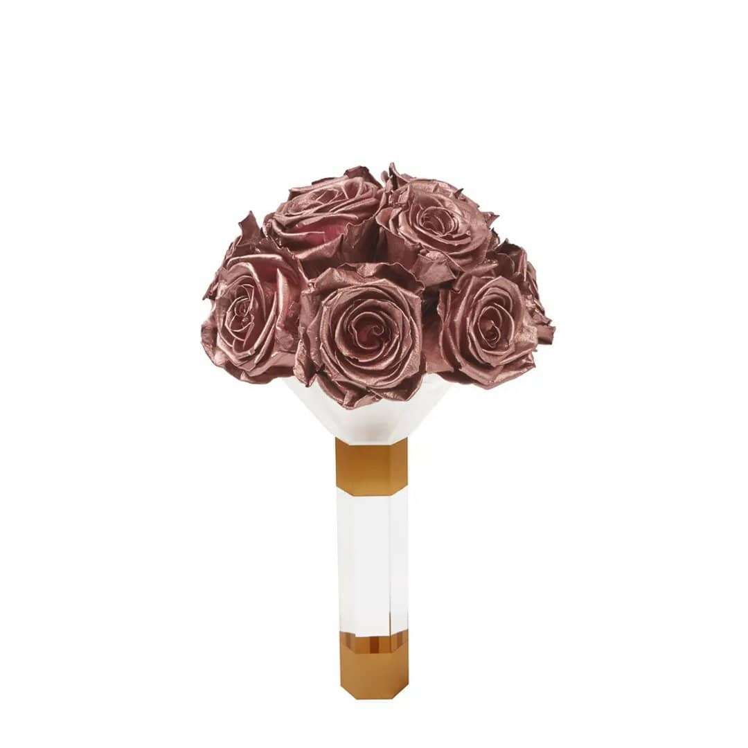 Rose Gold Luxury Eternity Bridesmaid Bouquet - Palatial Petals