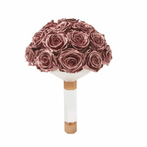 Rose Gold Rose Luxury Eternity Bridal Bouquet - Palatial Petals