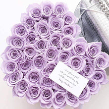 Lavender Roses That Last A Year - Love Heart Rose Box - Palatial Petals