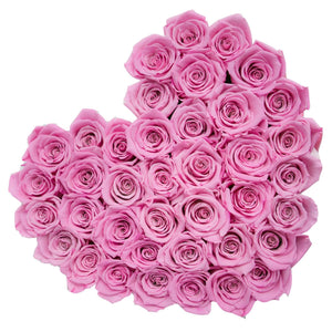 Candy Pink Roses That Last A Year - Love Heart Rose Box - Palatial Petals