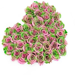 Tropical Roses That Last A Year - Love Heart Rose Box - Palatial Petals