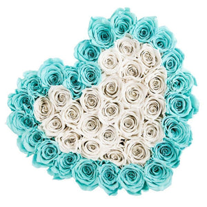 Roses That Last A Year - Tiffany Blue & Snow White - Palatial Petals