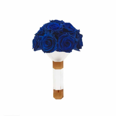 Royal Blue Rose Luxury Eternity Bridesmaid Bouquet