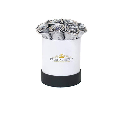 Silver Roses That Last A Year - Petite Rose Box - Palatial Petals