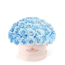 "Baby Blue Roses That Last A Year - Classic ""Crown"""