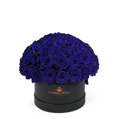 Royal Blue Roses That Last A Year - Classic