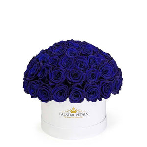 "Royal Blue Roses That Last A Year - Classic ""Crown"""