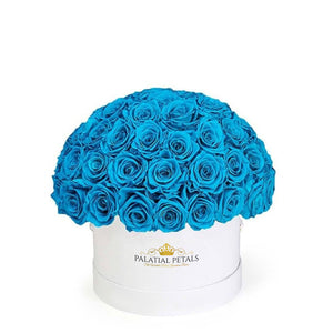 "Turquoise Roses That Last A Year - Classic ""Crown"""