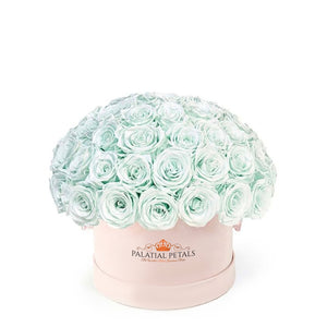 "Tiffany Blue Roses That Last A Year - Grande ""Crown"" Rose Box"