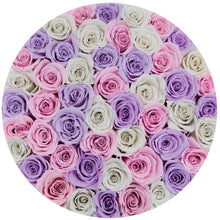 Sweet Lavender, Bridal Pink & Snow White Preserved Roses That Last A Year - XL White Rose Box - Palatial Petals