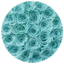 Tiffany Blue Preserved Roses That Last A Year - Medium Black Rose Box - Palatial Petals