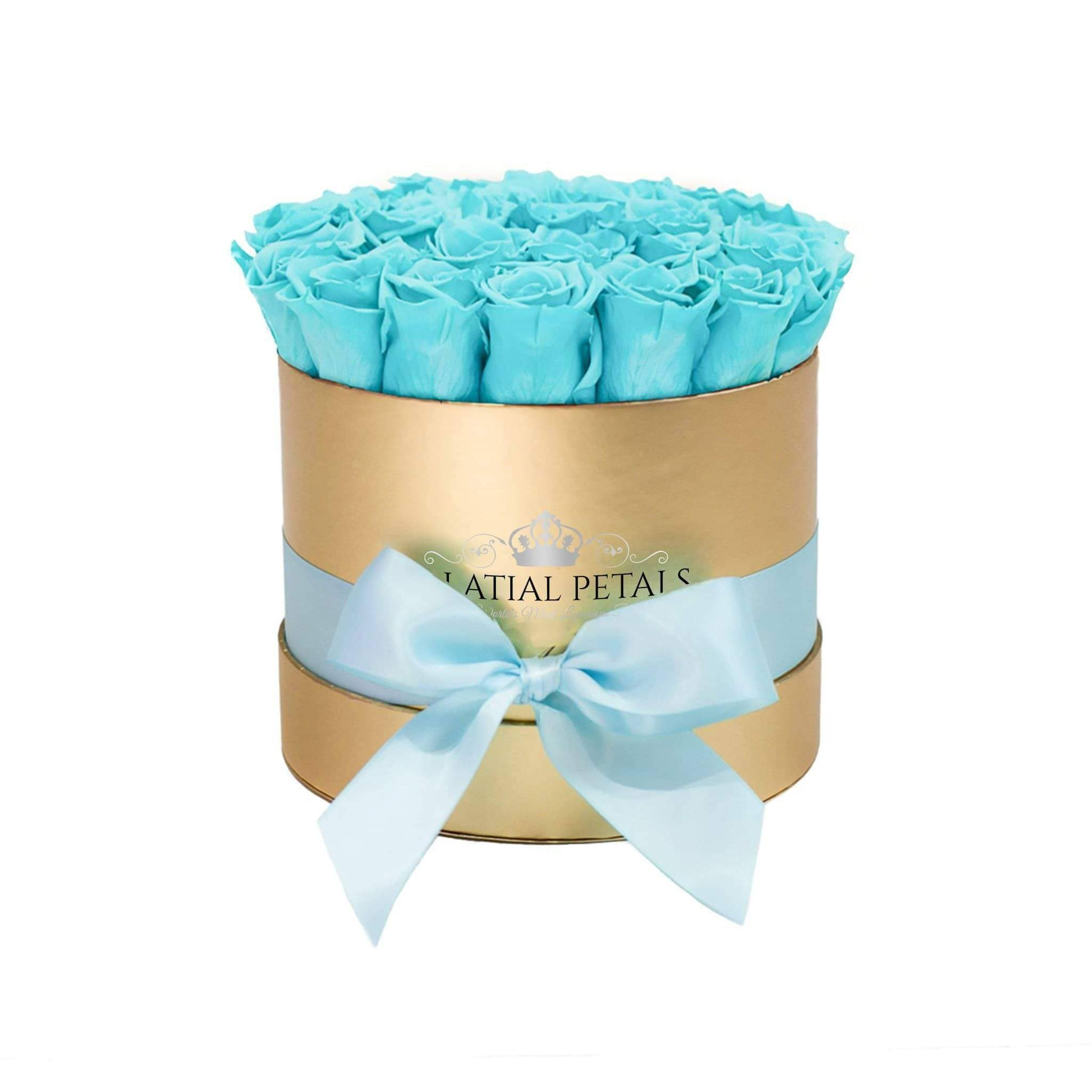 Tiffany Blue Roses That Last A Year - Classic Rose Box - Palatial Petals
