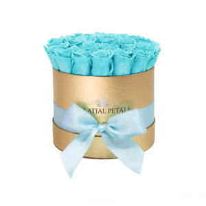 Tiffany Blue Roses That Last A Year - Classic Rose Box
