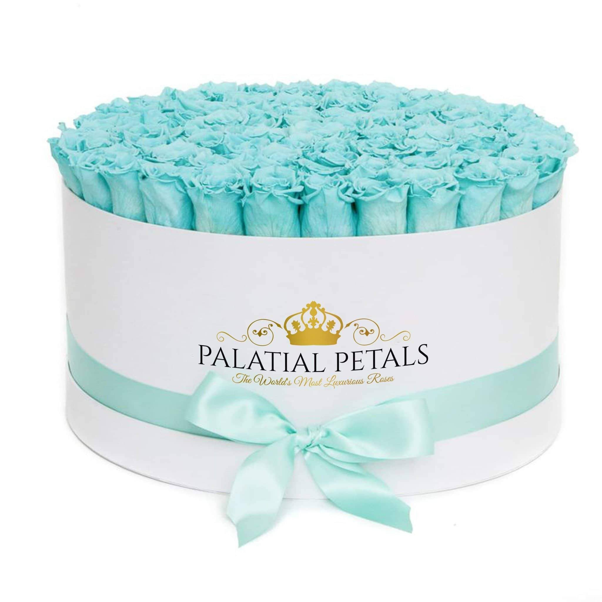 Tiffany Blue Roses That Last A Year - Deluxe Rose Box - Palatial Petals
