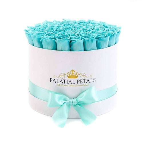Tiffany Blue Roses That Last A Year - Large Rose Box - Palatial Petals