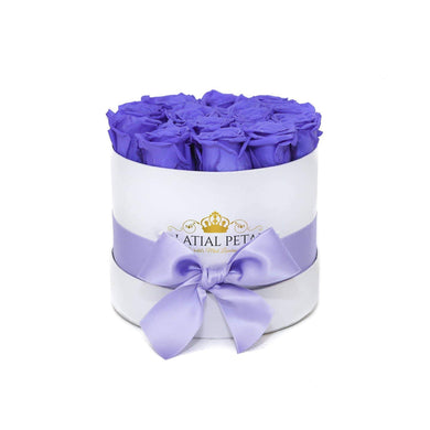 Violet Roses That Last A Year - Classic Rose Box - Palatial Petals