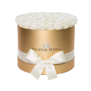 White Roses That Last A Year - Grande Rose Box - Palatial Petals