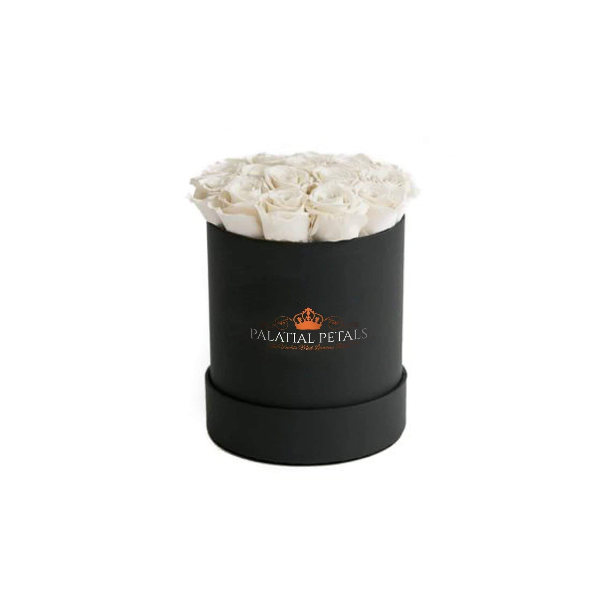 White Roses That Last A Year - Petite Rose Box - Palatial Petals
