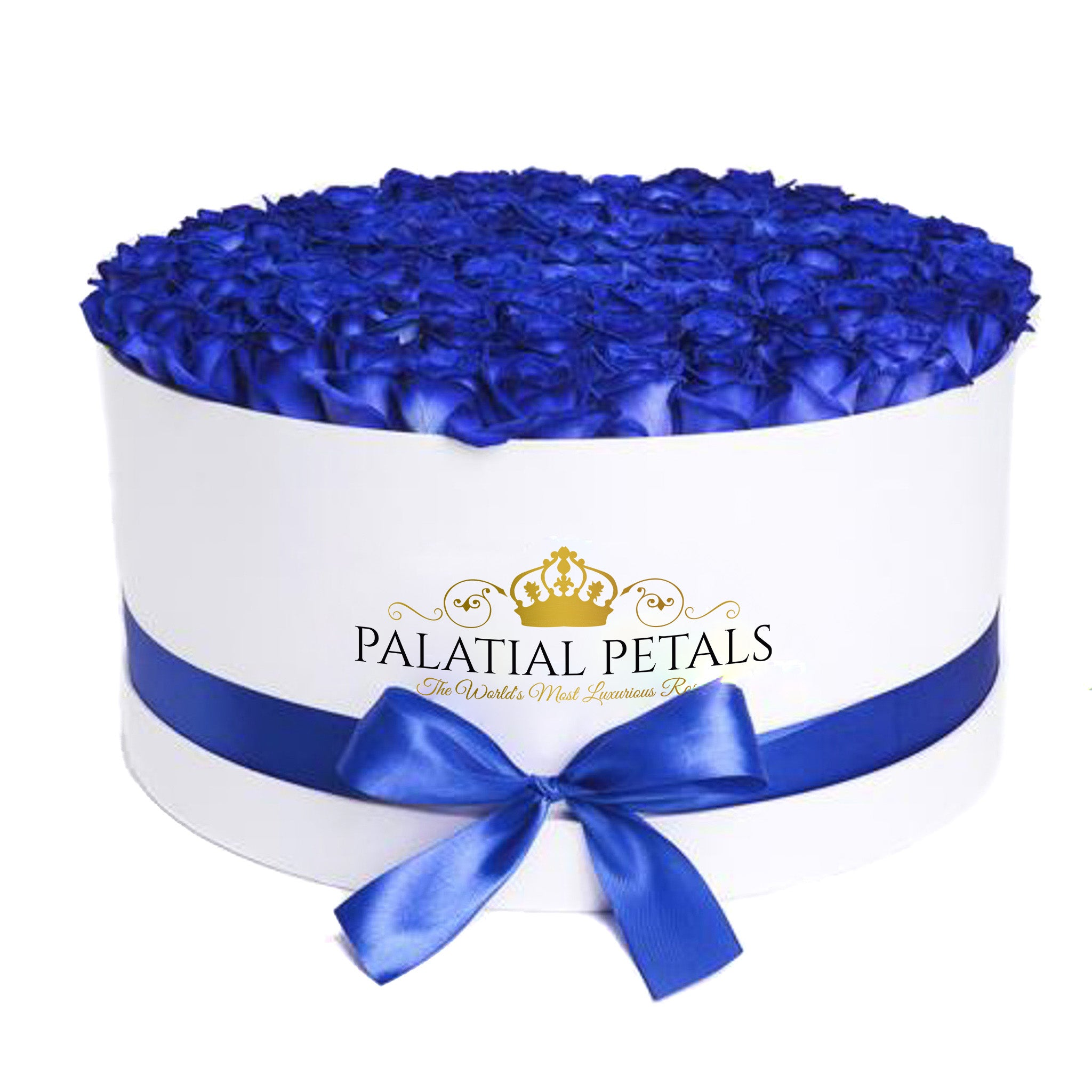 Royal Blue Roses That Last A Year - Deluxe Rose Box