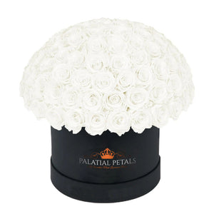 "White Roses That Last A Year - Grande ""Crown"" Rose Box"