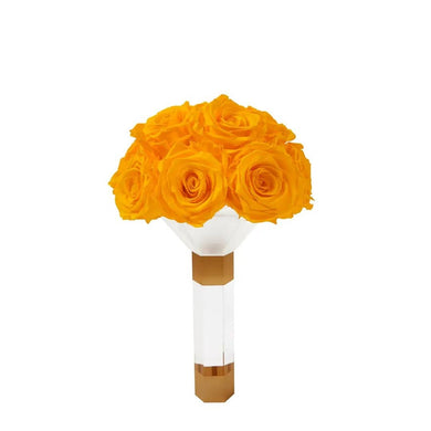 Yellow Luxury Eternity Bridesmaid Bouquet - Palatial Petals