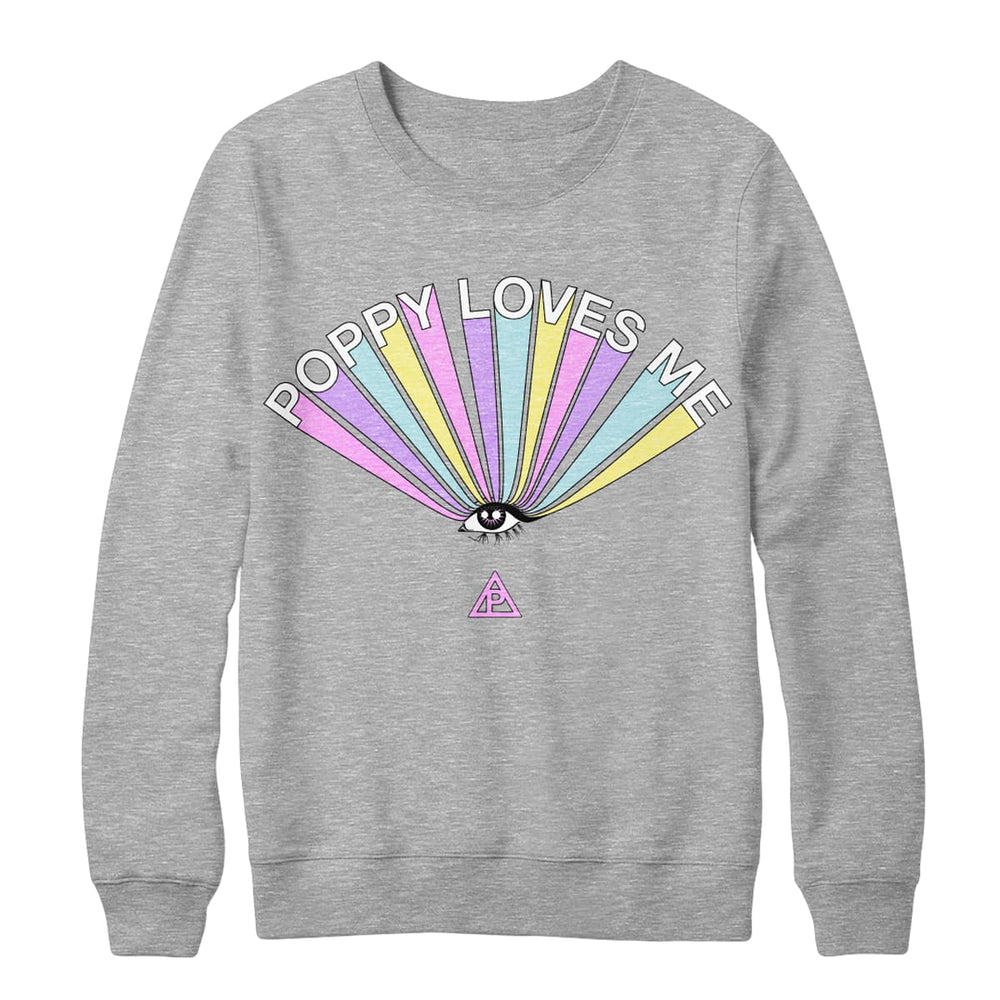POPPY LOVES ME CREWNECK SWEATSHIRT