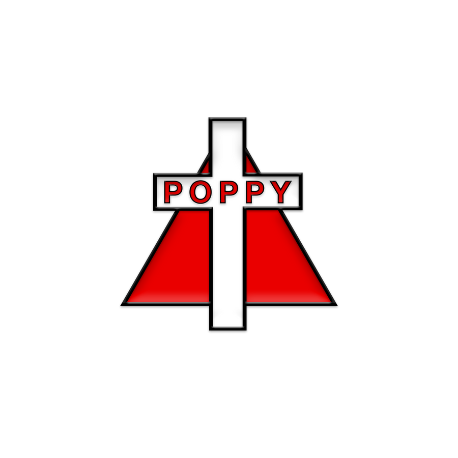 CROSS ENAMEL PIN - Poppy
