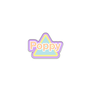 POPPY TRIANGLE PIN - Poppy