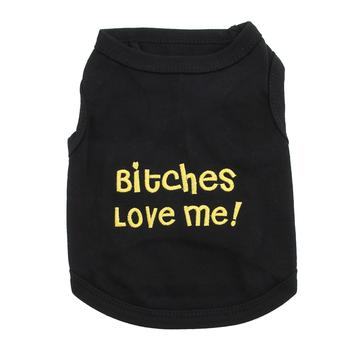Bitches Love Me Dog Tank by Parisian Pet - Black