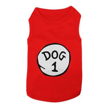 Dog 1 Dog Tank by Parisian Pet - Red