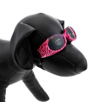 Doggles - ILS2 Pink Zebra Frame with Smoke Lens