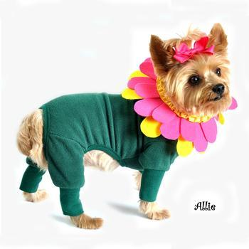 Flower Dog Costume with Separate Flower Headpiece