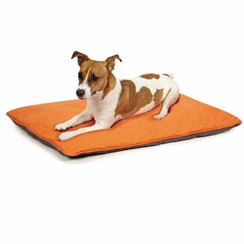 Insect Shield Reversible Dog Bed - Carrot and Slate