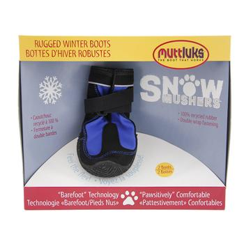 Muttluks Snow Mushers Dog Boots - Blue with Black Trim