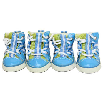 Parisian Pet Dog Sneakers - Blue and Lime