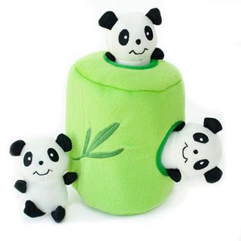 ZippyPaws Burrow Dog Toy - Panda 'n Bamboo