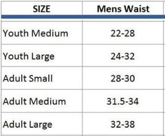 size chart for lacrosse shorts